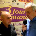 """Interview Michaël DRAPIER – Présentation """"Les 3 Jours Gourmands"""" – Saint-Amand-les-Eaux"""