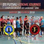 ITW Jean-François CECAK – 19ème Journée Futsal D1 – Bethune vs Toulon – Lens – 24/02/2018